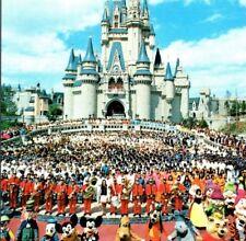 Cinderella's Castle with Employees Walt Disney World Resort FL Vintage Postcard