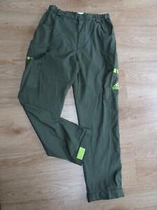 ADIDAS mens green vintage retro 90s utility cargo tracksuit trousers MEDIUM