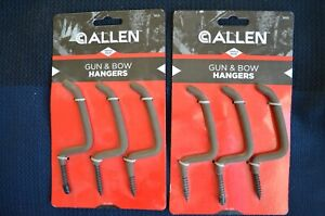 Lot 2 Gun & Bow Hangers Triple Pack Allen #5013 Rubberized Drab Coating