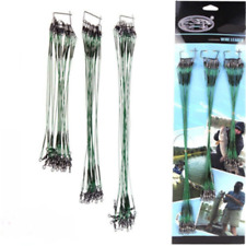 15/20/25cm Green Traces Wires Pike Card Swivels Safety Snap Fishing Lures Hook