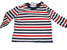 Topolino tolles Langarm Shirt Gr. 62 weiß-rot-blau gestreift !!