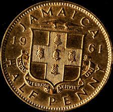 Jamaica 1961 Half Penny - AU - Unc - clean and golden