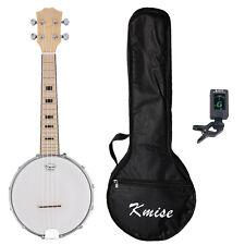 Kmise Banjo Ukulele Banjo Lele 4 String Ukelele Concert 23 Inch Maple Bag Tuner