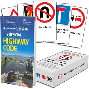 The Highway Code 2021 Book + 78 Road Signs Flash Cards - Know Your Traffic Signs
