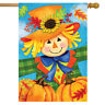 "Harvest Celebration Scarecrow Fall House Flag Pumpkins 28"" x 40"" Briarwood Lane"