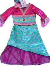 Mulan Princess Oriential dress up party Costume 5-8 Traditional Chinese Dance