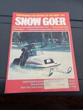 Oct 1978 SNOW GOER snowmobile magazine Yamaha COVER ARCTIC CAT Scorpion Polaris