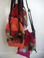 Patchwork Fish Bag Fair Trade Thailand Funky Drawstring Cross Body Girls Gift