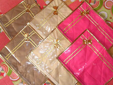 ( 8 PC )Oneside Clear Plastic Clothes Sari Saree Garment Storage,cover Bags