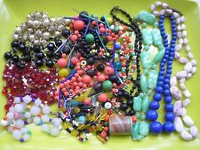 Lot of Vintage Loose Czech Peking Glass Mardi Gras Beads Necklaces 1 lbs +