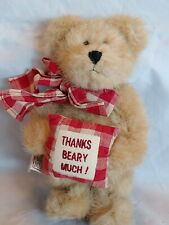 """Collectible Boyds Bear Bean Bag Plush """"Thanks Beary Much!"""" Jointed Legs/Arms"""