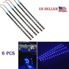 "6 PCS Blue 12V 12"" Flexible LED Strip Light Waterproof IP68 For Car Truck Boat"