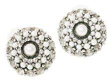 Ohrringe groß Ohrstecker rund Stecker Ohrringe Straß Steine kleine kunstl Perlen