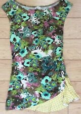 Weston Wear Parted Rays Blouse Top Size X-Small Green NW ANTHROPOLOGIE Tag