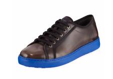 Salvatore Ferragamo Fulton Leather Sneakers with Blue Heel US 10 UK 9 EU 44