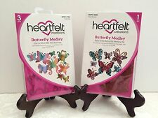 Lot Set Heartfelt Creations Butterfly Medley Collection Dies+Stamps HCD759+3650