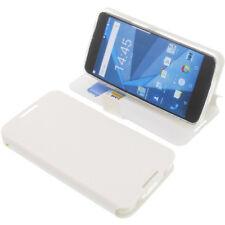 Tasche für Blackberry DTEK50 Book-Style Schutz Hülle Handytasche Buch Weiß