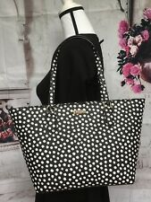 KATE SPADE NWT SMALL DALLYLAUREL WAY PRINTED MUSICAL DOT TOTE SHOULDER BAG BLK
