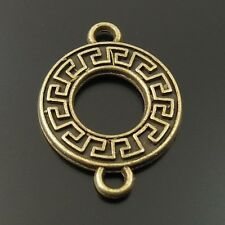 50X 3484 Antiqued Bronze Tone Alloy Pandent Connector Charms Jewelry 15*15*2mm