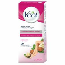 Veet Full Body Waxing Kit, Normal Skin, Hair Removal Strips, 20 Strips