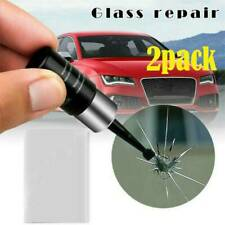 2xCar Automotive Glass Nano Repair Fluid Kit Window Glass Crack Chip Repair Tool