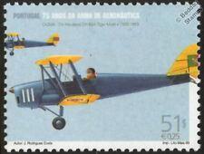 De Havilland dh-82a Tiger Moth aviones Sello de menta (1999, Portugal)