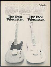 1972 Fender Telecaster 1948 Broadcaster 1972 Tele guitar photo vintage print ad