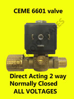 """CEME 6601 solenoid valve * 230volt/50 * Direct Acting 0 - 6 Bar 1/2"""" to 1/4"""" 4mm"""