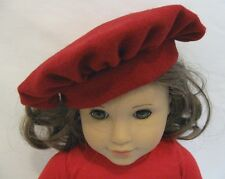 "Tam Beret Red Wool Hat Doll Clothes for 18"" American Girl Widest Selection Found"