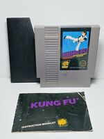 KUNG FU -- Nintendo NES Original Game + INSTRUCTIONS MANUAL BOOKLET