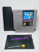 KUNG FU -- Nintendo NES Original Game + INSTRUCTIONS MANUAL BOOKLET