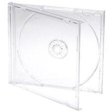5 X SINGOLO CD JEWEL CASE casi 10mm 10.4mm CHIARA Vassoio più alta qualità in plastica