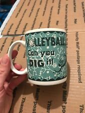 Paper Giftware Volleyball... Can you Dig it! Porcelain Coffee Mug - Excellent