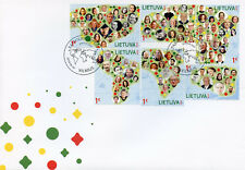 More details for lithuania 2018 fdc lithuania in the world 6v s/a set cover geography maps stamps