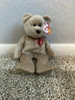 Rare Ty Beanie Baby Retired 1999 Signature Bear – Mint Condition with Mint Tags