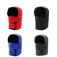 Men Women Winter Trapper Trooper Earflap Warm Russian Ski Hat Fur Bomber GBW