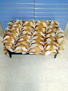 Luxury Red Fox Fur Throw Genuine Real Fox Fur Blanket / Bedspread