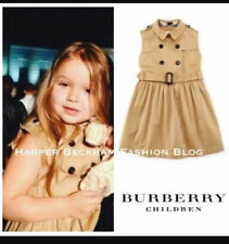 BURBERRY CHILDREN GIRL SLEEVELESS HONEY TRENCH DRESS SIZE 4Y