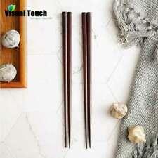 2/5 Pairs Japanese Asian Natural Iron Wooden Sushi Tableware Chopsticks Set