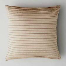 "$100 Oake Convex Stripe Beige 18"" x 18"" Pima Cotton Decorative Pillow"