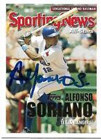 Alfonso Soriano Signed Auto 2005 Topps Texas Rangers Card - COA - NY Yankees