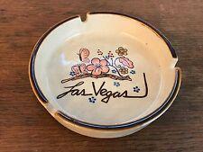 Vintage Ceramic Las Vegas Nevada Souvenir Cigarette Ashtray HD3