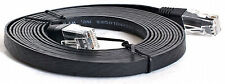 LONG 5m FLAT Network Ethernet Cat 5e Cat5e Cable Lead  5 Metre Thin Ribbon Lead