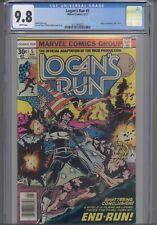 Logan's Run #5 CGC 9.8  1977 Marvel Comic , Movie Adaptation 5 of 5. NEW FRAME