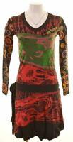DESIGUAL Womens A-Line Dress Size 6 XS Multicoloured Cotton  LP07