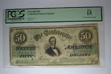T16 $50 1861 Pf-14 Cr. 91. Pcgs Fine 15, Cc