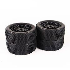 17mm Hex RC 1:8 Set Ruber Buggy Tire Rims 4Pcs For HSP HPI Traxxas Off-Road Car