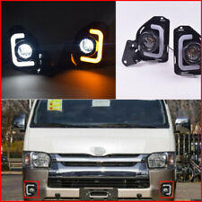 For Toyota Hiace 14-18 With Turn Signal 2 LED Daytime Running Light Fog Lamp DRL