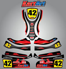 Arrow X1 go kart  full custom KART ART sticker kit THUNDER STYLE / graphics