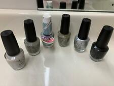 Opi Nail Polish Lot Set of 6 Silver Gray Black Shades Full Size 0.5 fl. oz. Htf